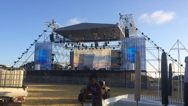 36m x 12m Layher Scaff stage  #roec #ccpp #layher #litec #concertstage #staging #outdoorstage
