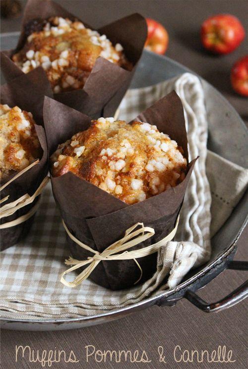 Découvrez la recette Muffins pommes et canelle sur cuisineactuelle.fr.