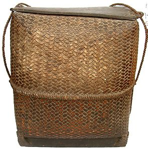 This style of basket was used by both women and men for both transport and storage purposes  IVB
