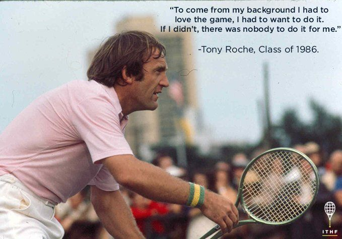 "#MondayMotivation from #TonyRoche, famed member of the ""Handsome Eight,"" former coach of Lendl, Rafter, & Federer!"