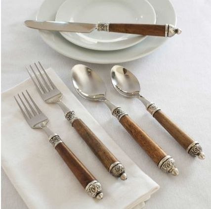17 best images about dining dinnerware on pinterest vintage dinnerware teak and 1960s - Flatware with wooden handles ...