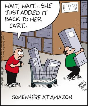 amazon funny, amazon warehouse, amazon comic, amazon black friday, amazon cart, amazon cyber monday, christmas shopping, online shopping, ebates