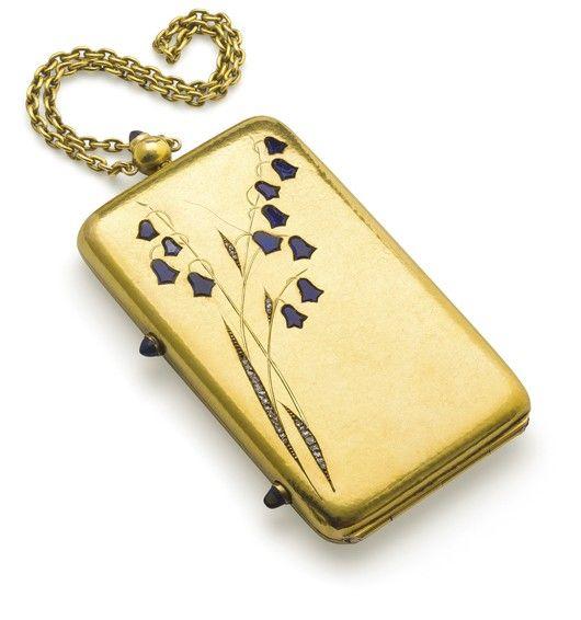 LACLOCHE, A sapphire and diamond vanity case
