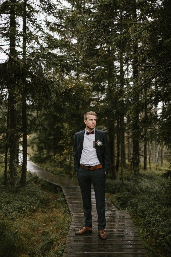 Rainy Wedding Photo Shoot in the Harz Forest