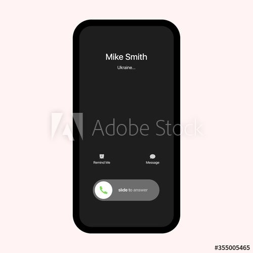 Iphone Call Screen Interface Incoming Call Slide To Answer Iphone Ios Call Screen Template Smartphone Phone Call Screen Vector Moc In 2021 Smartphone Phone Iphone