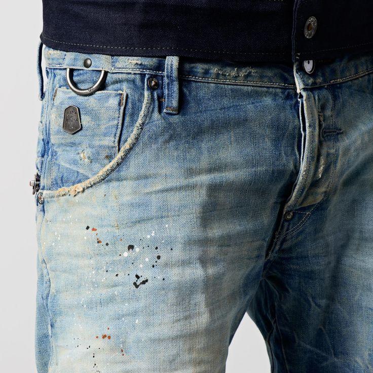 G-Star RAW   Men   Jeans   New Riley 3d Sl, Hack Denim, Med Aged Destry , Hack Denim