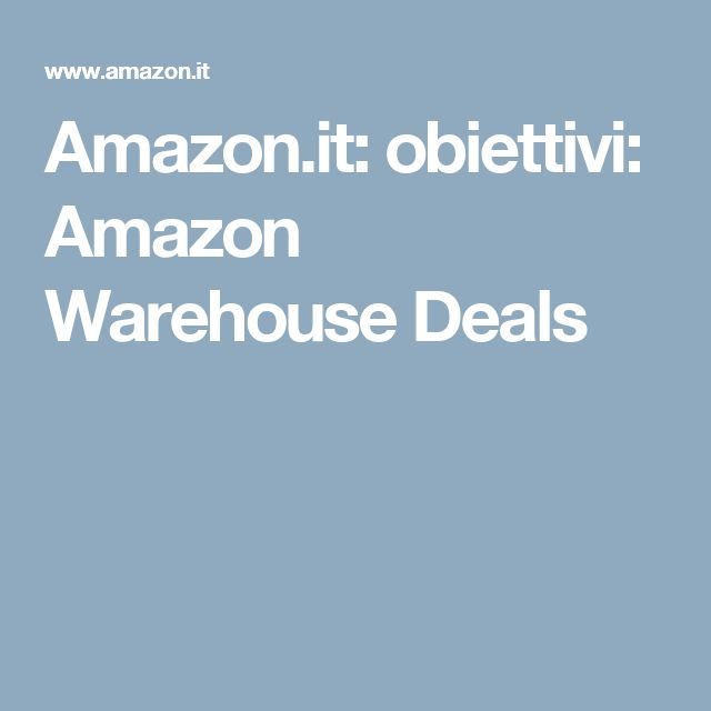 Amazon.it: obiettivi: Amazon Warehouse Deals