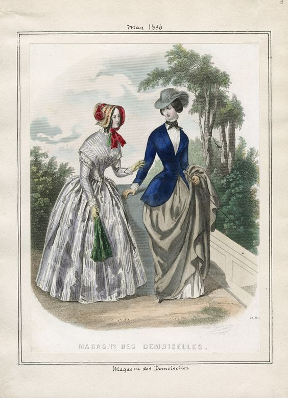Casey Fashion Plates Detail | Los Angeles Public Library Magasin des Demoiselles Date: Friday, May 1, 1846