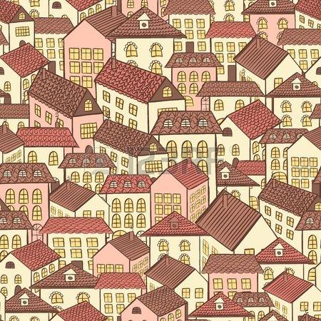 бесшовные загородных домов шоколад иллюстрации