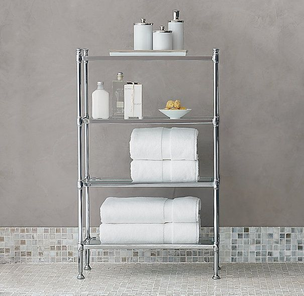 Google Image Result for http   media restorationhardware com is. 17 Best images about Bathroom on Pinterest   Shelves  Metals and
