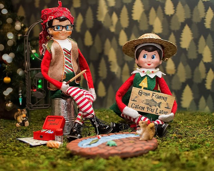 1000 images about elf on the shelf on pinterest cheese for Elf on the shelf fishing