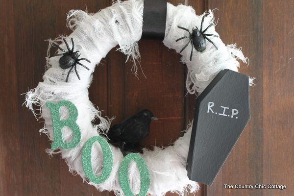 RIP Halloween Wreath