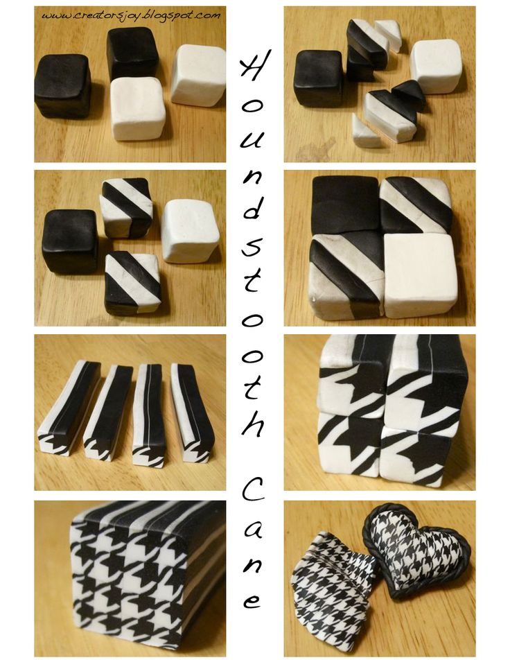 Awesome! Houndstooth polymer clay cane tutorial...