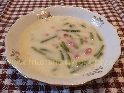Fazolová polévka z lusků