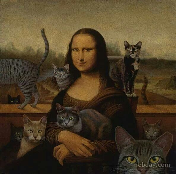 Mona Lisa as The Cat Lady