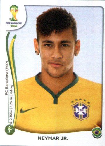 2014 Panini World Cup Soccer Sticker # 48 Neymar Jr. Team Brazil 2014 World Cup http://www.amazon.com/dp/B00JS8NGM4/ref=cm_sw_r_pi_dp_u-dTtb0BTV743PTW