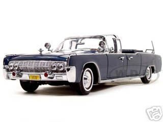 diecastmodelswholesale - 1961 Lincoln X-100 Kennedy Limousine Blue with Flags 1/24 Diecast Model Car by Road Signature, $54.99 (https://www.diecastmodelswholesale.com/1961-lincoln-x-100-kennedy-limousine-blue-with-flags-1-24-diecast-model-car-by-road-signature/)