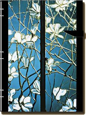 Magnolia Ultra, leaded stained glass window panels by Louis Comfort Tiffany | Charles Hosmer Morse Museum of American Art in Florida