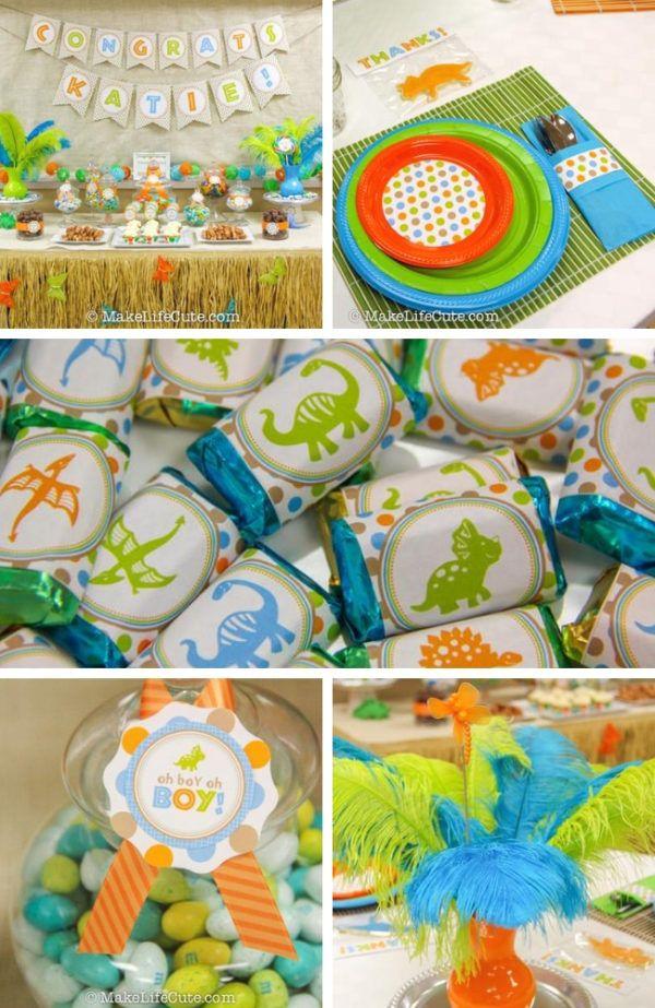 Baby Shower Dinosaur Theme : shower, dinosaur, theme, Dinosaur-themed-baby-shower, Dinosaur, Shower, Theme,, Shower,, Themes