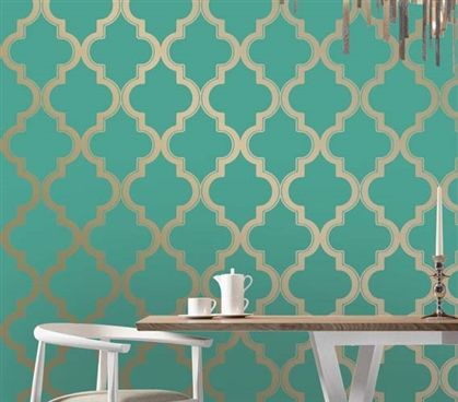 BMarrakesh Honey Jade Designer Removable Wallpaper