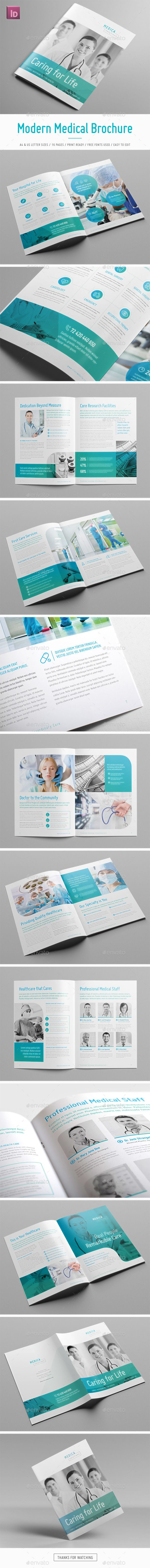 Modern Medical Brochure - #Informational #Brochures Download here: https://graphicriver.net/item/modern-medical-brochure/19577265?ref=alena994