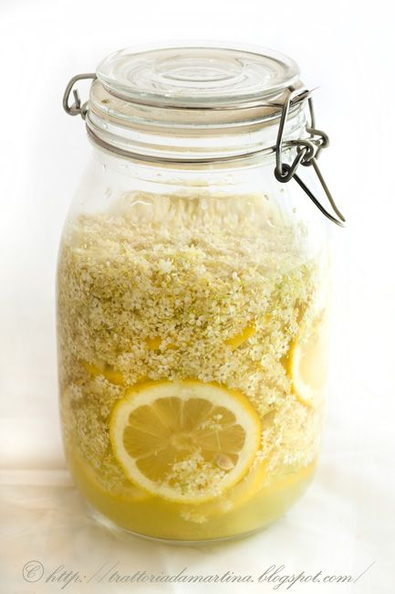 Lo sciroppo di sambuco è una bevanda tonica e rinfrescante dal gusto simile ad un the freddo fruttato ottimo per l'estate e un rimedio contro la febbre.