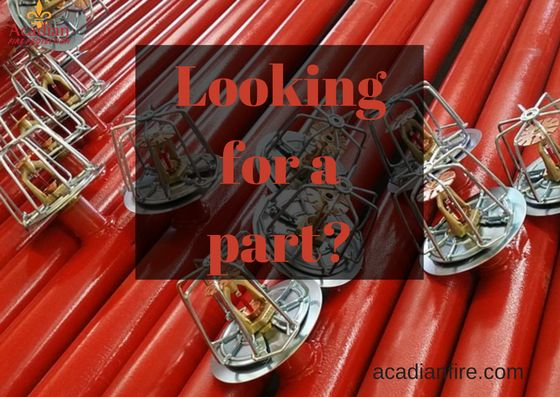 #AcadianFireProtection offers hard to find fire sprinkler system replacement parts many of which are no longer made by their manufacturer. Give us a call to get your part that you need. (504) 834-2332 #AFP #FireSystem #Parts #KennerLA