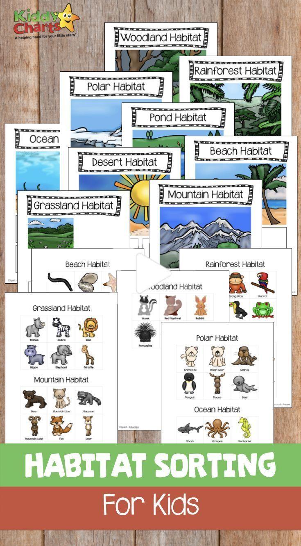 Animal Habitats Sorting Game For Kids Free Printable Animal Activities For Kids Animal Habitats Preschool Animal Habitats [ 1332 x 735 Pixel ]