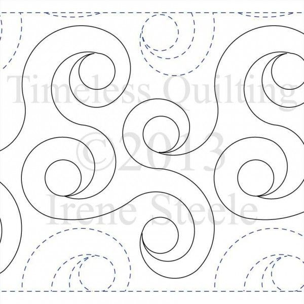 picture relating to Printable Free Motion Quilting Templates named Printable Cost-free Movement Quilting Templates : SPIRAL RINGS