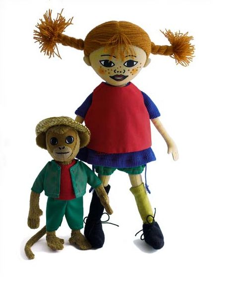 Pippi Longstocking and Herr Nilsson doll set are wonderfully soft dolls with printed and embroidered faces and clothes that can be removed that makes a perfect gift for every child! Super sweet dolls.