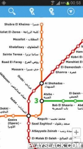 Cairo Metro Map  Android App - playslack.com , This is an easy-to-use navigator for Cairo metro. No Internet connection required so you can use it on the go.Features:- simple, fast and easy to use- gestures controlled map- stations quick search- optimal route planning- step-by-step route directions (on map or in a detailed list)