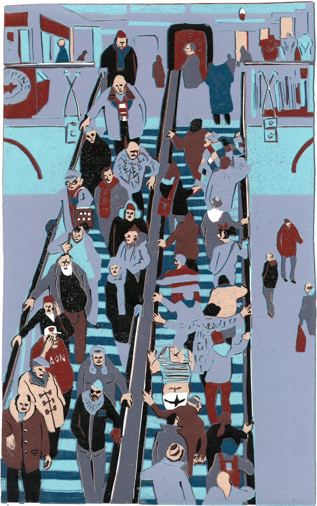 Graham Firth lino - step by step - escalator-print-part-23.jpg (626×1000)