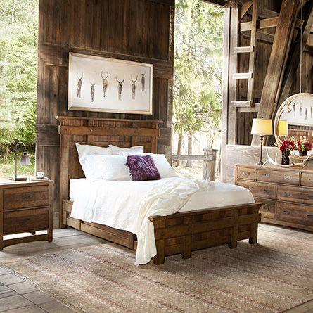 Fall into elegant comfort while you sleep with arhaus - Rustic elegant bedroom furniture ...