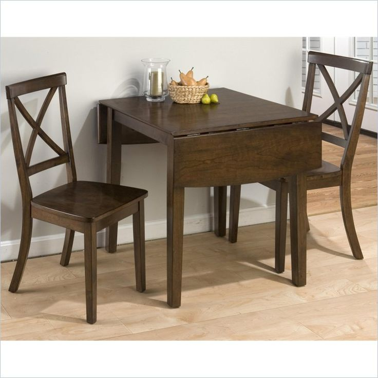 Jofran 3 Piece Drop Leaf X Back Dining Set In Taylor Cherry Amazing Design