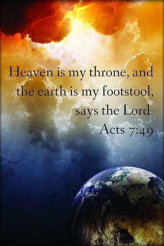 Acts 7:49 | Bible - Faith - Scripture | Christ quotes, Bible
