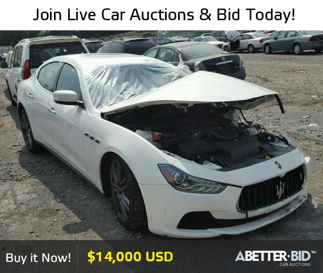 Salvage  2016 MASERATI ALL MODELS for Sale - ZAM57RTA3G1165910 - https://abetter.bid/en/30517456-2016-maserati-ghibli_s_q