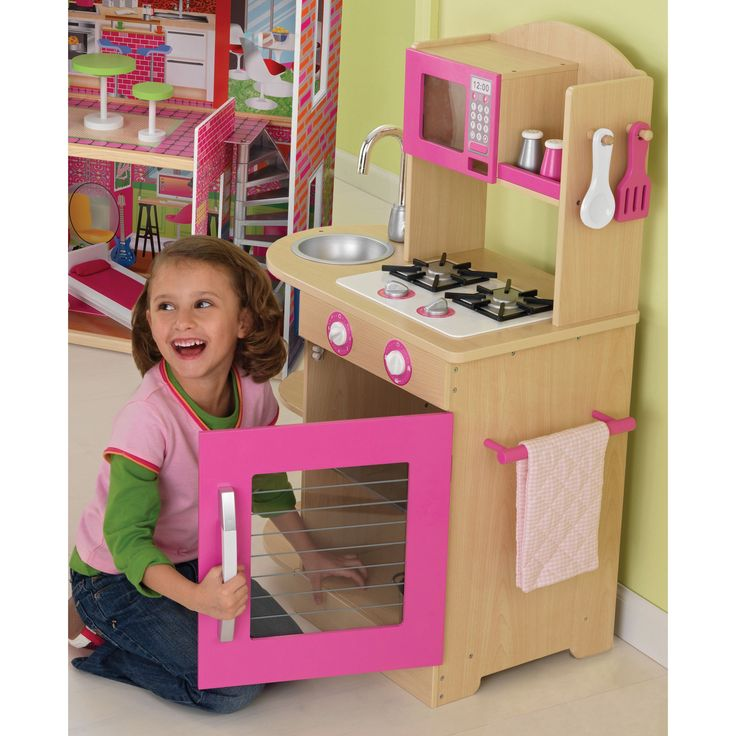 Have to have it. KidKraft Pink Wooden Play Kitchen $96.98