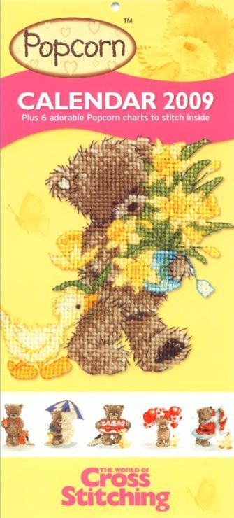 Popcorn Calendar 2009 The World of Cross Stitching Issue 142 October 2008  Saved