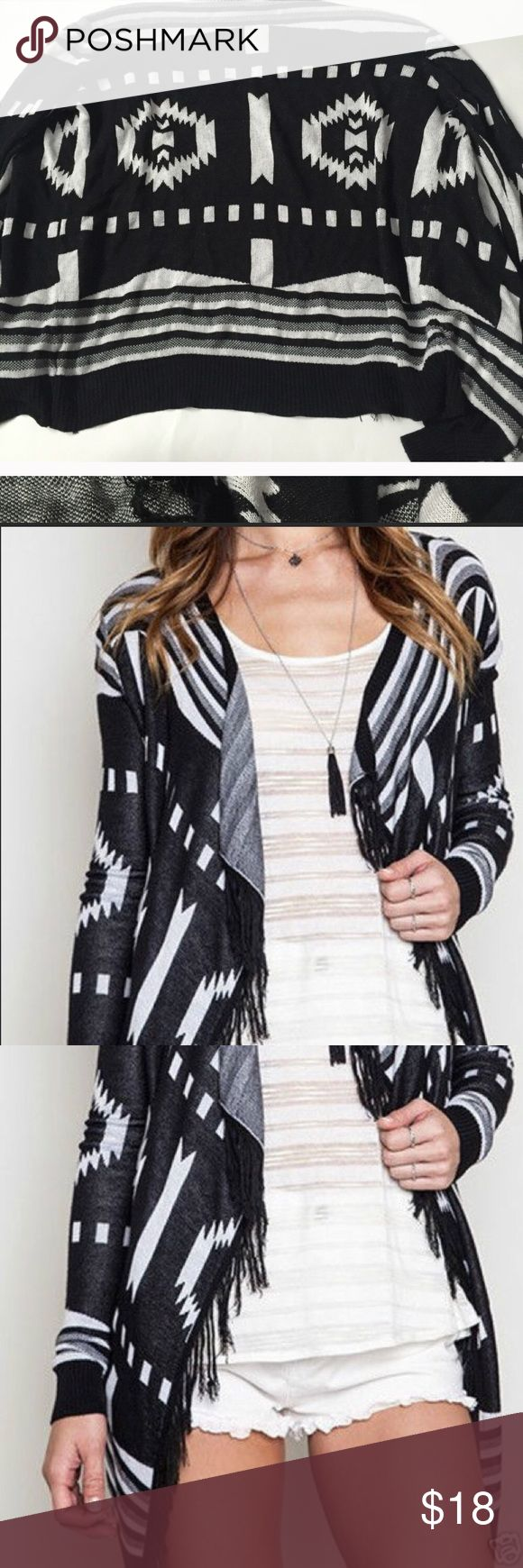 Black and white cardigan UmGee black and white cardigan NWT Umgee Sweaters Cardigans