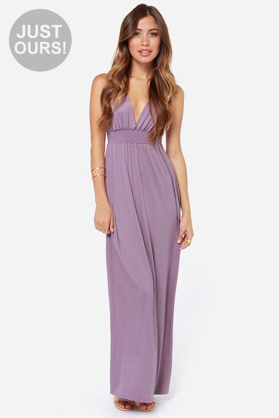 Exclusive at great length dusty purple maxi dress for Purple maxi dresses for weddings
