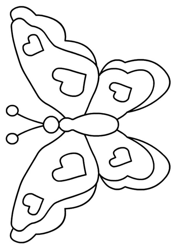 The Butterfly With Hearts Butterfly Coloring Page Free Printable Coloring Sheets Free Printable Coloring Pages