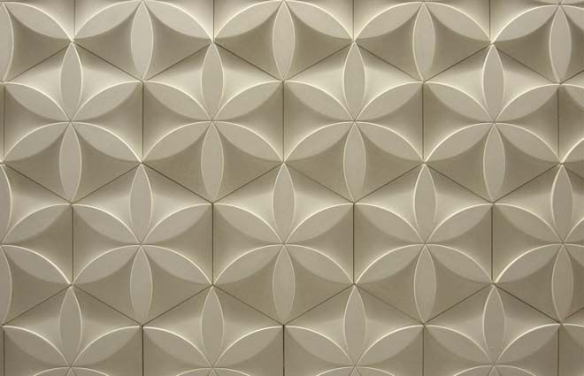 Custom porcelain retail decor tile for Stella McCartney - by Edward Barber & jay Osgerby