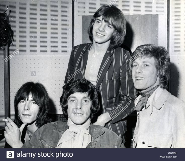 Download this stock image: THE HERD UK group in 1967. From left: Andy Bown, Andrew Steele, Peter Frampton, Gary Taylor - C7C25H from Alamy's library of millions of high resolution stock photos, illustrations and vectors.