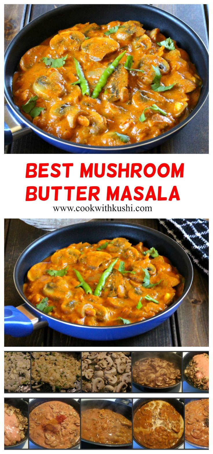 Mushroom Butter Masala (Makhani) is a rich & creamy, vegan delicious Indian dish that is accompaniment for steamed rice…