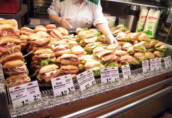 A German Sandwich Shop at Hanover Train Station