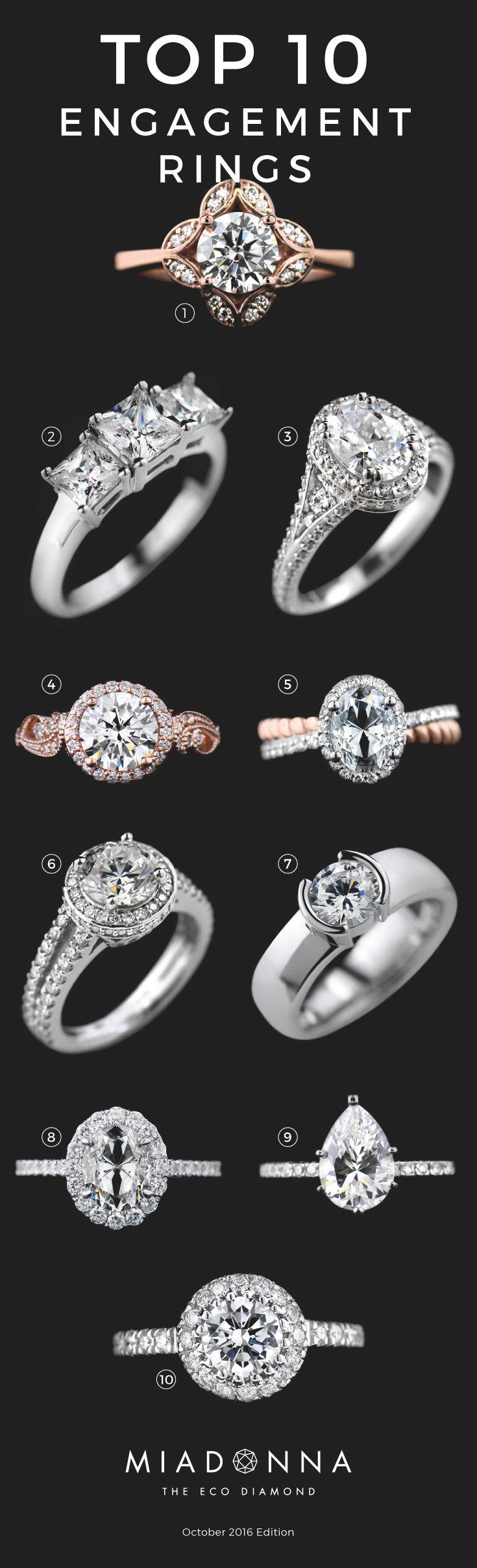 Free form 5 stone wedding bands