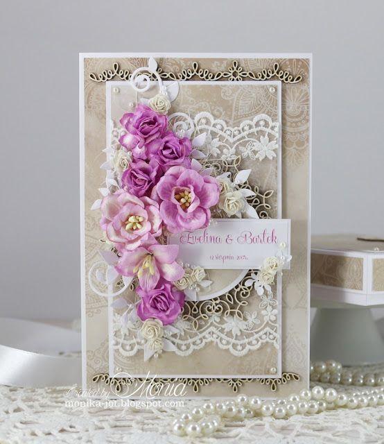 Moja papierowa kraina: Ślubna kartka