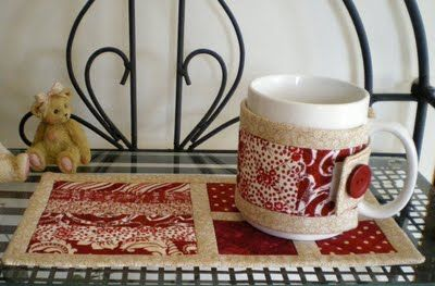 ............ Rainbow Gardens: Mug Rug and Mug Cozies