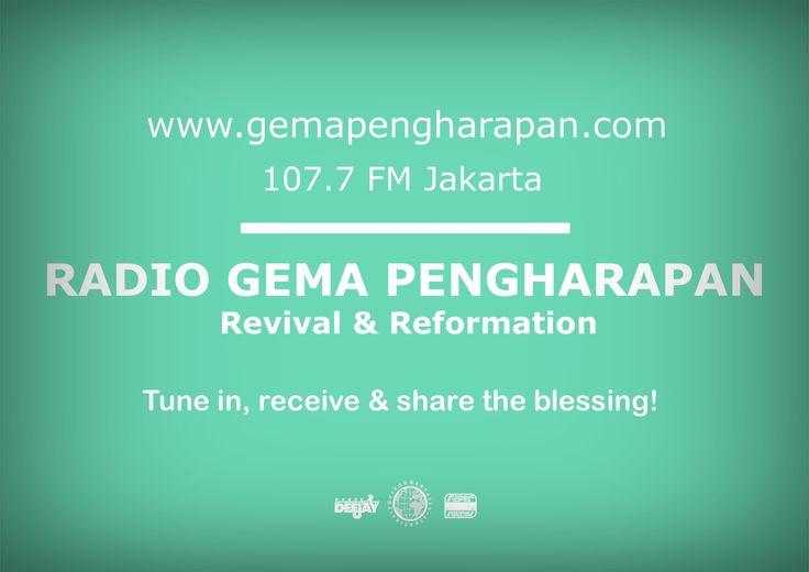 Selamat pagi Sahabat Pengharpan! Yuk, dengarkan #Radiogemapengharapan di 107.7FM & http://www.gemapengharapan.com  hari ini. Tuhan memberkati selalu!