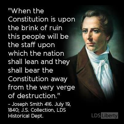 """We are fast approaching that moment prophesied by Joseph Smith http://facebook.com/217921178254609 when he said: """"Even this nation will be on the very verge of crumbling to pieces and tumbling to the ground..."""" From President Benson's http://pinterest.com/pin/24066179230010164 Oct. 1987 http://facebook.com/223271487682878 message 'Our Divine Constitution' http://lds.org/general-conference/1987/10/our-divine-constitution"""